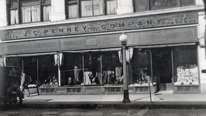 JCPenney was located at 6-16 West Third Street next to Woolworth's at Third and Main streets downtown Mansfield. This photo, from the collection at the Mansfield Memorial Museum, was taken about 1918.