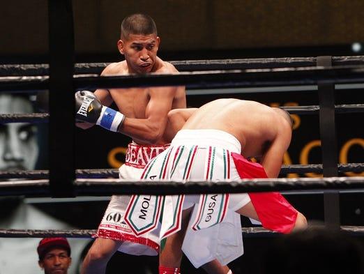 "El peleador de Phoenix, Alexis ""Beaver"" Santiago, se"