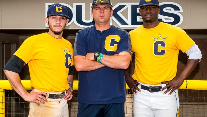Cumberland County College's Marco Rios, head coach Keith Gorman, Tovine Potts and the rest of the Dukes are heading to the 2017 NJCAA Division III Baseball World Series in Greeneville, Tennessee.