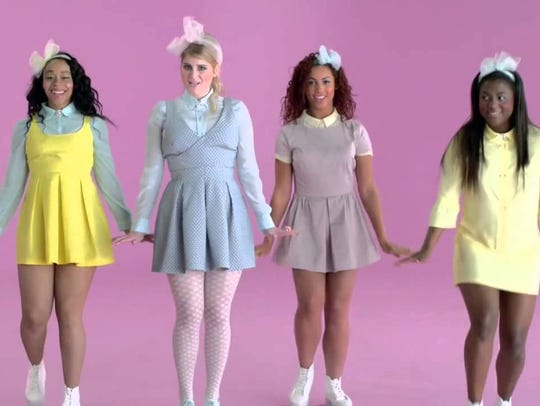 "Meghan Trainor's ""All About That Bass"" video, which"