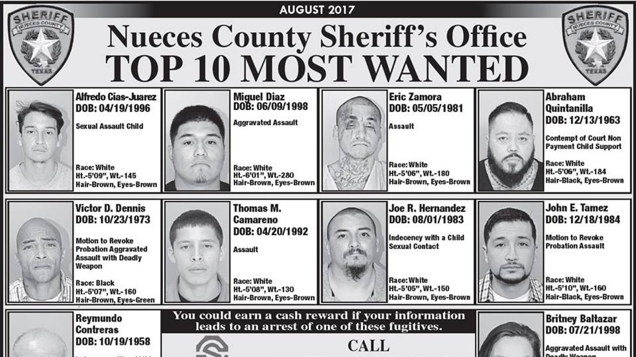 A.B. Quintanilla listed in Nueces County's Top 10 Most Wanted