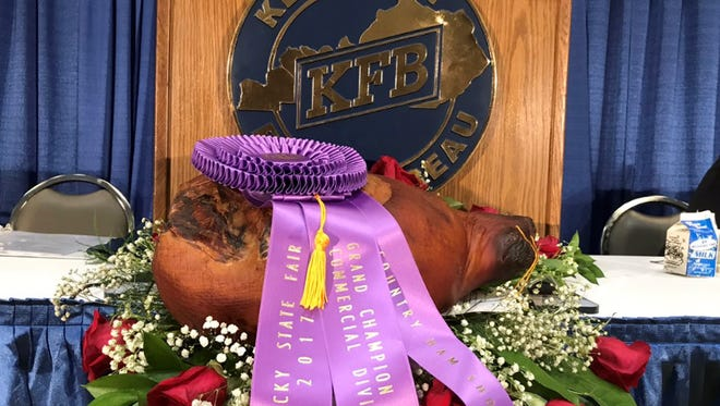 This ham at the Kentucky Farm Bureau auction was sold for $325,000.
