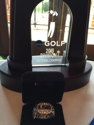 Eric Ricard was honored Wednesday at Southern Trace for his part in LSU's national championship golf team.