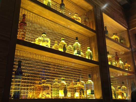 Nada carries dozens of tequilas, including top-shelf, long-aged añejos. See most of them on the golden wall in the cantina, to the left as you walk in the front door.