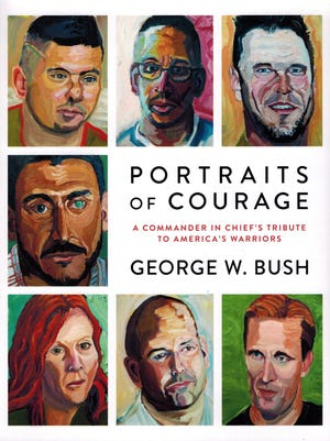 "Cover of former President George W. Bush's book, ""Portraits of Courage"""