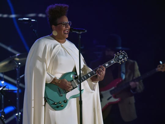 Alabama Shakes singer Brittany Howard performs at the