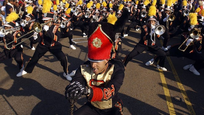 The Grambling State Tiger Marching Band wowed the crowd in Arizona.