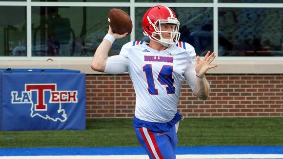 Louisiana Tech quarterback Ryan Higgins hasn't taken