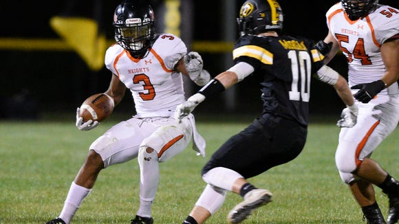 Jasiah Purdie (No. 3) and Hasbrouck Heights will play Rutherford in the NJIC championship game on Friday night.