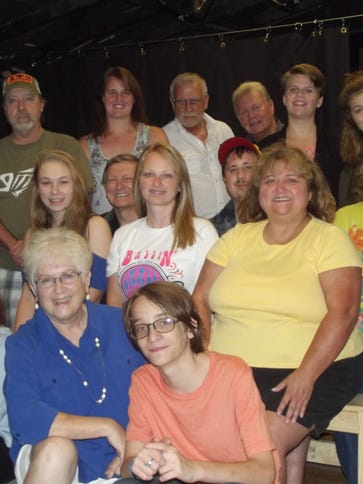 The cast for the Twin Lakes Playhouse production of