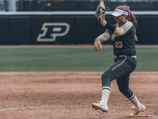 Sydney Bates earned Big Ten Freshman and Pitcher of the Week honors after three complete games and 18 scoreless innings in a sweep over Iowa.