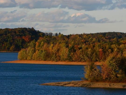 Fall foliage at Codorus State Park,  Monday October