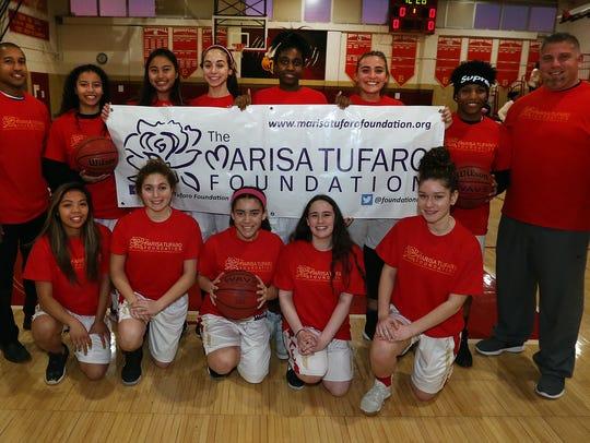 The Edison High School girls basketball team