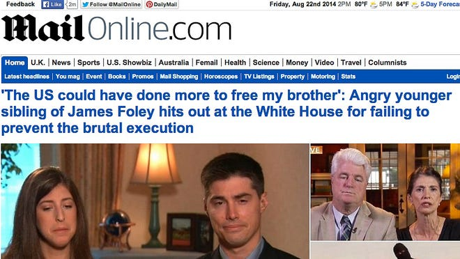 """The Aug. 22 Web edition of """"MailOnline."""""""