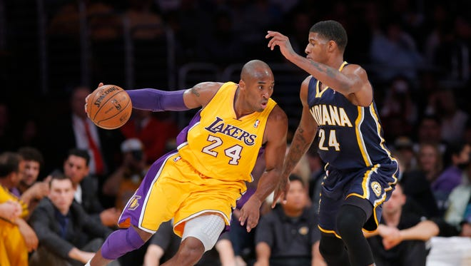 FILE -- How close were Paul George and Kobe Bryant to becoming teammates?