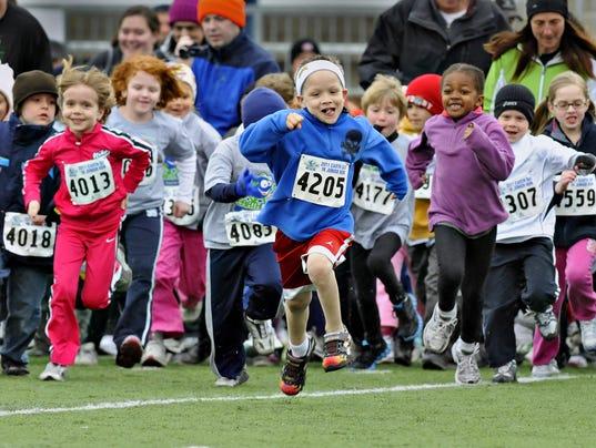 Kids brave cold for race