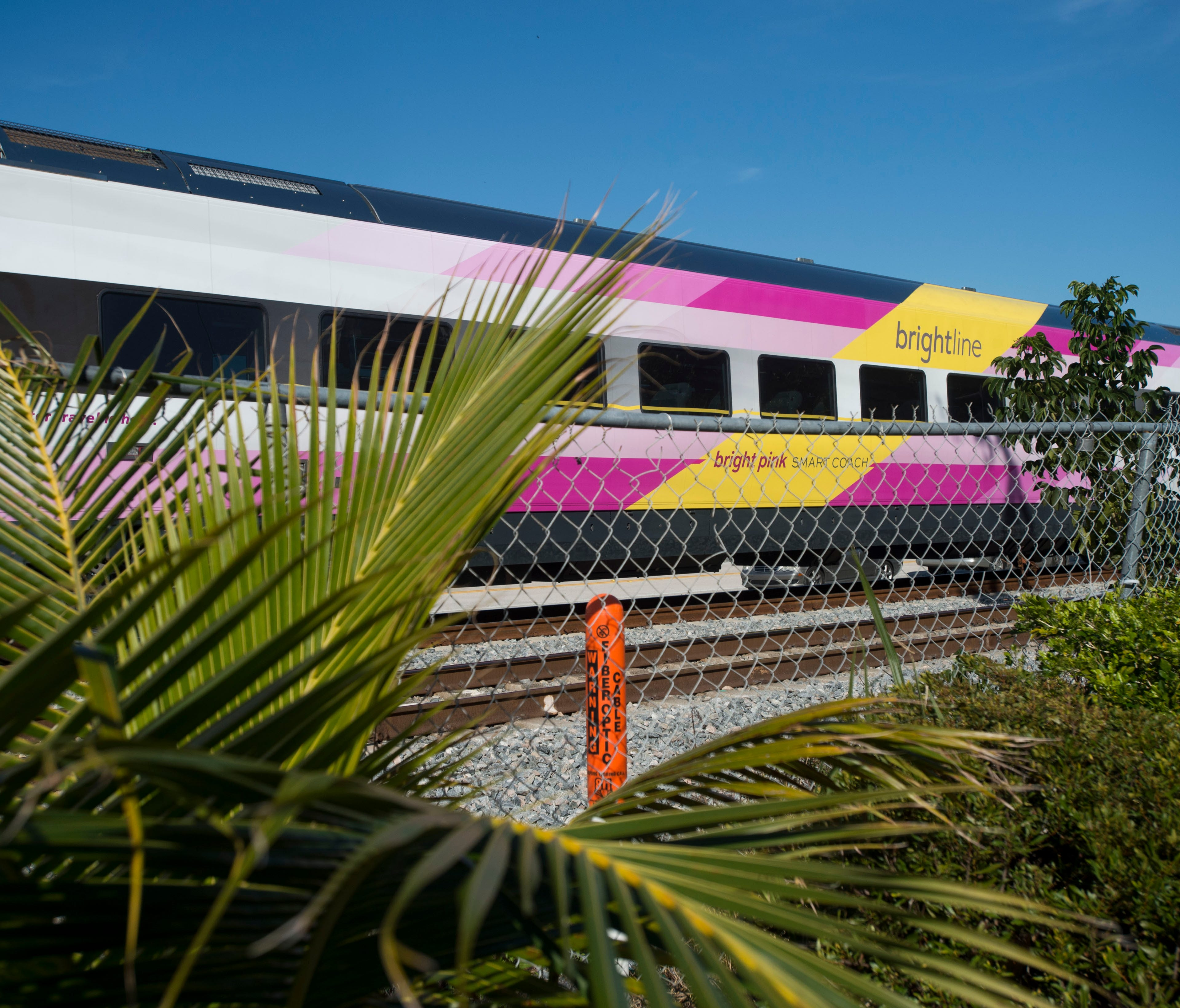 Brightline trains continue service between West Palm Beach and Fort Lauderdale, seen on Thursday, Jan. 18, 2018 in Boynton Beach. Two people have died in a week being hit by Brightline trains in Boynton Beach.