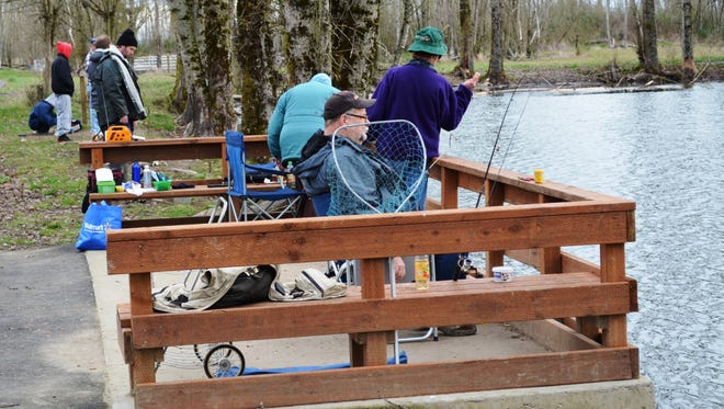 Access to some of the ponds at St. Louis Ponds west of Gervais are Americans with Disabilities Act-compliant with trails, fishing platforms and vault toilets.