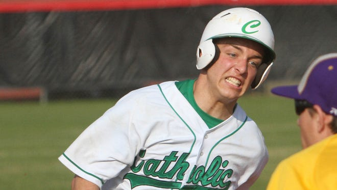 Catholic's Carl Gindl is a key ingredient in Catholic's returning seven starters. Area baseball opened play Feb. 20
