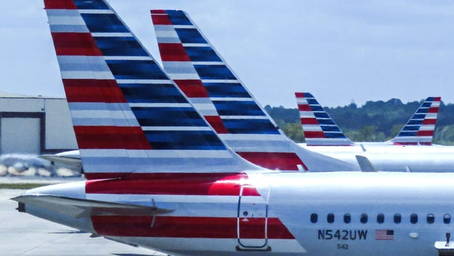 A file photo of an American Airlines airplane.