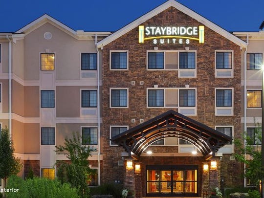 The exterior of the Staybridge Suites Staybridge Suites