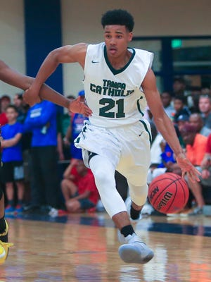 Tai Strickland started for two seasons at Tampa Catholic before transferring to St. Petersburg High School for his senior year.