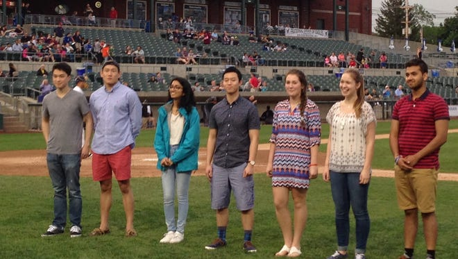 The 2016 MyCentralJersey.com Academic All-Stars were honored at the May 24 Somerset Patriots game.