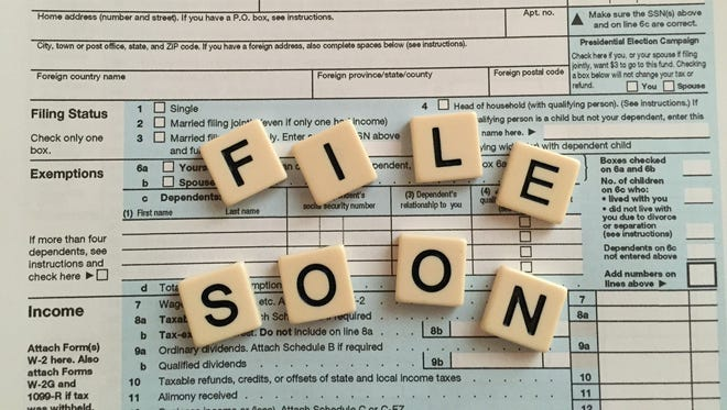 The deadline to file federal and state income taxes is April 18 this year.