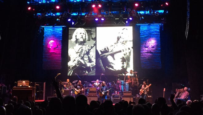 During 'Nobody Left to Run With,' images of the late great slide guitarist Duane Allman flashed on the screen during the band's Beacon Theatre set Friday.