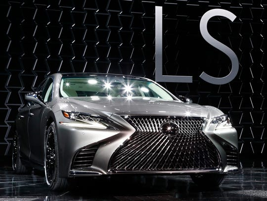 The Lexus LS is presented at the North American International