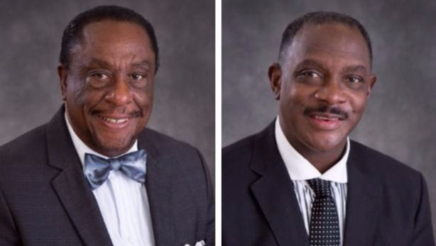 Councilmen Fred Bell, left, and David Burkette, right, have declared their intent to run for the District 26 seat in the Alabama Senate.