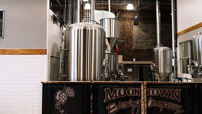 Brewing equipment can be seen at Moontown Brewing Company in Whitestown.