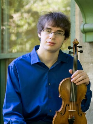 Ithaca High School graduate Jonathan Fenwick is the violin soloist at the Orchestra of the Southern Finger Lakes concert Sunday at the Clemens Center in Elmira.