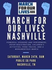 2018 March for Our Lives Nashville poster.