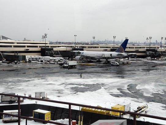 Roughly 160 flights were cancelled at Newark International