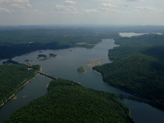 The Wanaque Reservoir looking to the southeast.