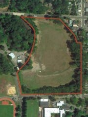An aerial photo of the 14-acre Suez tract in New Milford.