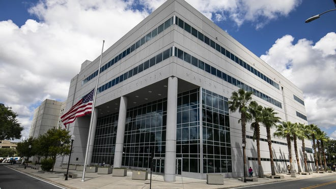 The Marion County Judicial Center in Ocala has been a relatively quiet place since the pandemic hit. The result: a case backlog and funding woes.