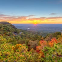 """""""Autumn Morning at Mohonk Preserve"""" is ablaze in color."""