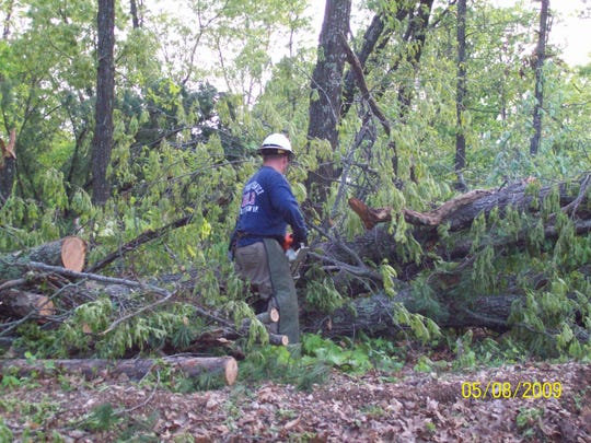 """More than a million trees were downed during the May 2009 """"derecho"""" that swept through southern Missouri."""
