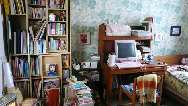 """A client's room before it was decluttered by Marie Kondo in Japan. Kondo is the author of the book """"The Life-Changing Magic of Tidying Up,"""" published by Ten Speed Press."""