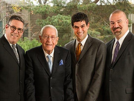 From left, David Techner, Herbert Kaufman, Chad Techner