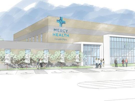 The new Mercy Health HealthPlex is connected to the