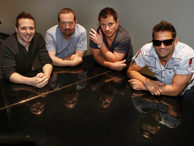 At least a dozen music, movie, TV and radio celebrities – including one Miss America and two from 98 Degrees – have worked at Kings Island on summer breaks from area high schools and universities. Here's our list compiled by Enquirer media writer John Kiesewetter. Shown: 98 Degrees band members (from left) Drew Lachey, Justin Jeffre, Nick Lachey and Jeff Timmons at the School for Creative & Performing Arts.