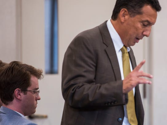 Wesley Richter's attorney, Ben Luna, argues in Vermont