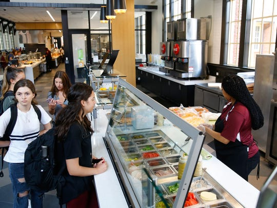 Students order from a new deli area of the Suwannee