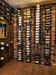 Well stocked wine vault.