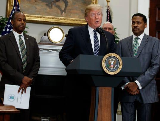 Donald Trump, Mike Pence, Ben Carson, Isaac Newton Farris