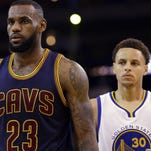 Cleveland fans are hoping that LeBron James can deliver an elusive title by leading the Cavaliers past Stephen Curry and Golden State.