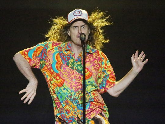 "Comedy singer/songwriter ""Weird Al"" Yankovic performs in Texas last month."
